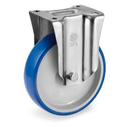 Roulette polyuréthane BLEU-SOFT® pivotante à frein diamètre 100 mm - 120 Kg