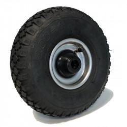 Roue diable gonflable (3.00-4) 260 x 85 moyeu 75 axe 25 mm à rouleaux - 200 Kg
