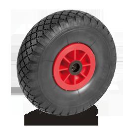 Roue à pneu gonflable