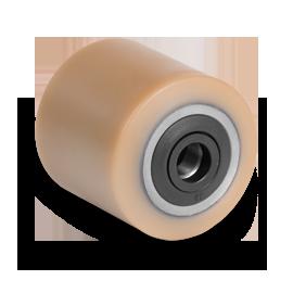 Galet (OEM JUNGHEINRICH) bandage Vulkollan® avec joint noir pare-fils