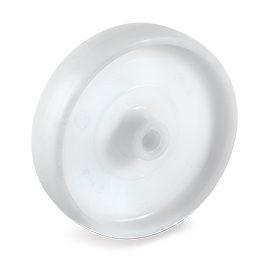 Roue polyamide 6 blanc moyeu lisse