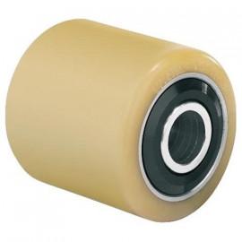 Galet (OEM FENWICK) bandage Vulkollan® axe acier et joint pare-fils